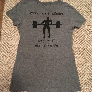 V neck workout t shirt